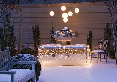 Creating a Winter Wonderland in Your Back (or Front) Yard